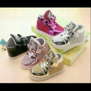 Sepatu Anak Perempuan Import Hello Kitty Perekat Tokopedia