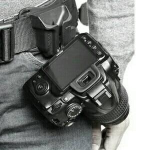 Fast Loading Camera Belt Clip Holster - Bracket Pinggang Kamera DSLR