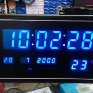 Jam Dinding Digital Led Ay 3020 Biru Tokopedia