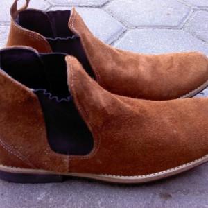 Jual Sepatu Boot / Boot Pria - Boot Bludru Casual BT-72 - kulit asli