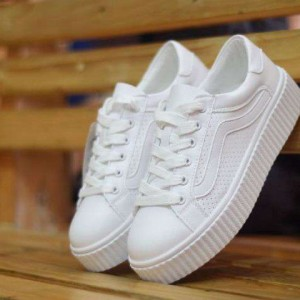 List Produk Sepatu Vans Creepers Full White Casul Women - 45 Store 89520b1779