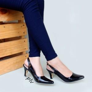 Sepatu Pantofel Wanita Hitam Tokopedia