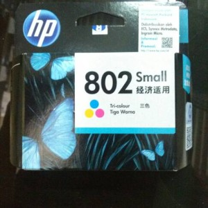Hp 802 Tinta Tri Color Ink Cartridge Warna Ch562zz Tokopedia