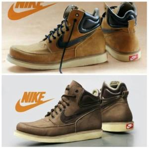 Jual Sepatu boot trendy kulit Nike SB etude (tan dan brown) c282fc8d00