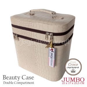 Exclusive Jumbo Size Tas Tempat Kosmetik Bunga Pink Beautycase Tokopedia
