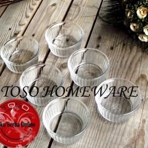 Duralex Glass Ramekin Kaca 8,5 cm Transparent Mangkuk Ramequin Bowl