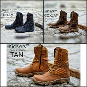Kickers Delta Boots Safety Ujung Besi Zipper Sleting Toko Gudang Pabrik Shoes Warna Crem Tokopedia