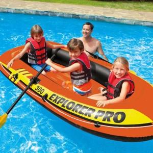 Perahu Karet Muat 3-4 orang bisa Dilaut, Danau sama Dayung 2,Pompa