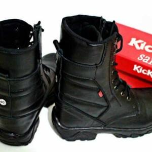 Sepatu Pdl Tinggi Pdl Tni Polri Full Kulit Ujung Besi Spatu Kerja Lapangan Tokopedia