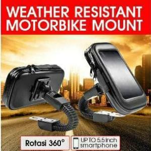 Holder Motor Sepeda Waterproof Max Hp 5 5 Inch Holder Waterproof Holder Anti Air Tokopedia