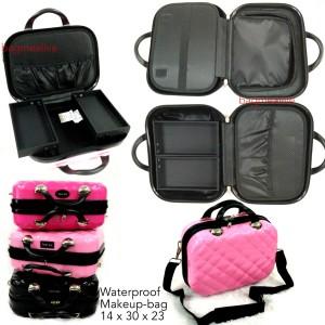 Terbaru Beauty Case Tempat Makeup Kotak Kosmetik 004 Merah Tokopedia