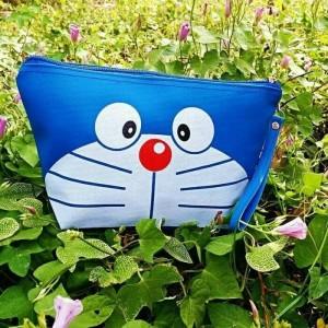 Tas Kosmetik Pouch Karakter Doraemon Sablon Tokopedia