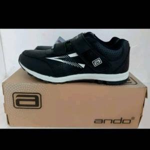 Sepatu Anak Laki Laki Ando Diva Light Velcro Black Tokopedia