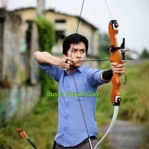 60 Wooden Recurve Bow Rucika Fiber Busur Panah Archery Tokopedia