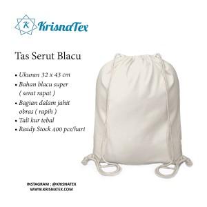 Tas Serut / Drawstring Backpack Polos Blacu