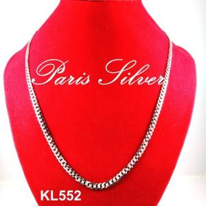 Kalung Panjang Rantai Silver Perak 925 Pria Emas Putih Sisik Naga