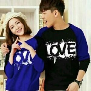 Jual FE - CP Love (Grey,benhur,tosca) baju couple KAOS COUPLE