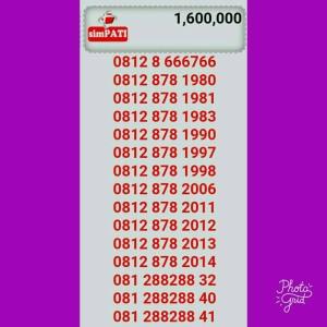 Jual Nomor Cantik Simpati Seri Th 11 Digit 0812-878-2011 Rapi/Hoki