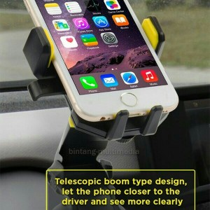 Car Holder Mobil Vivan Chs03 Telescopic Bracket Stand Handphone Hp Gps Tokopedia