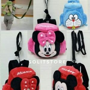 Jual Tas Backpack Ransel Tali Anak Boneka Minnie Mickey Doraemon Size M a29164333a