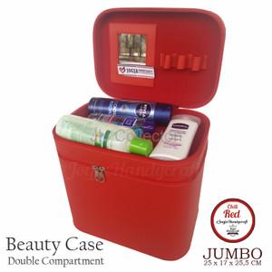 Exclusive Jumbo Size Tas Tempat Kosmetik Croco Cream Doff Beautycase Tokopedia