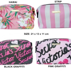 New Large Pouch Makeup Victorias Secret Original Tas Kosmetik Tokopedia