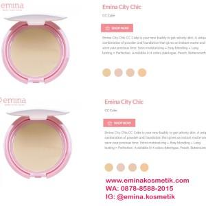 Kosmetik Cc Cake Bedak Padat Extra Cover Emina City Chic Tokopedia