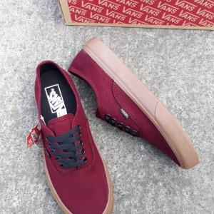 Sepatu Vans Authentic Maroon Tokopedia