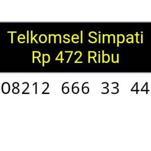 Jual Nomor cantik Simpati triple AA rapih 08212 666 33 44 couple hoki top