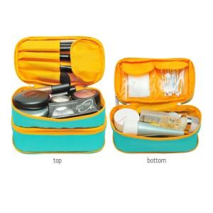 Expandable Cosmetics Pouch Ecp T Green Yellow Dompet Kosmetik Terlaris Tokopedia