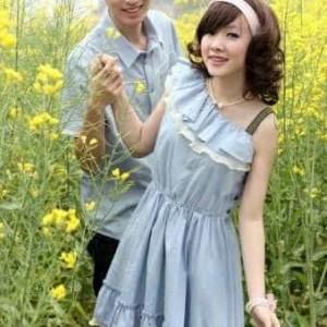 Baju Kemeja Dress Couple Denim Vans Tokopedia