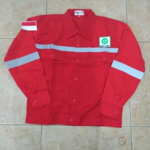 Baju Safety Lengan Panjang Logo Tokopedia