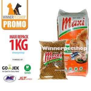 Maxi Cat Repack 1Kg - Makanan Kucing Maxi 1kg 1 kg Maxicat Felibite