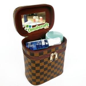 Tas Kosmetik Damier Beauty Case Dan Tempat Makeup Pouch Kosmetik Tokopedia