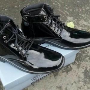 Sepatu Pdh Tali Ressleting Mengkilap Tokopedia