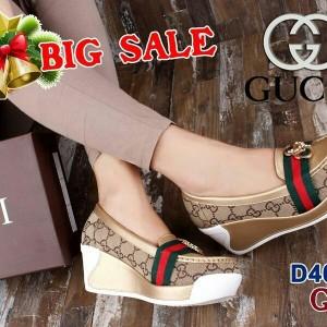 Jual Sepatu Wanita Shoes GUCCI D4015 (BIG SALE) Wedges Cewek Replika Sale 71564e2520