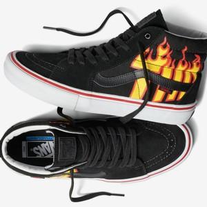 Jual Vans Sk8 Hi Thrasher Pro Flame Fire Skateboard BMX Grade Ori 7a846d6d18
