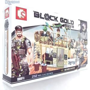 Sembo Block Gold Eagles Commando 2 Figure | Brick 11676