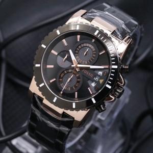 Jam Tangan Pria Fossil Chrono Grade Design Swiss Army Bonia Police Ripcurl Rolex Timberland Tokopedia