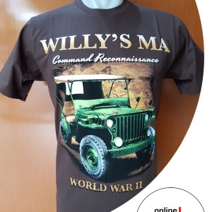 jeep willys MA. kaos katun sablon otomotif cotton combed 20s 3937814be7