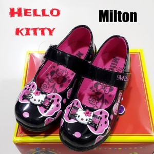 Sepatu Anak Perempuan Milton Kitty Bunga Merah Tokopedia