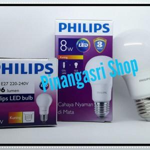 Philips Lampu Led Bulb 8 Watt E27 6500k 230v Putih 2 Buah Tokopedia