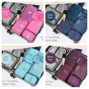 Tas Travel Bag In Bag Organizer Untuk Kosmetik Dan Sabun Tokopedia