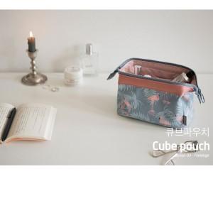 Diskon Kosmetik Organizer Pouch Dompet Kosmetik Travel Cokelat Tokopedia