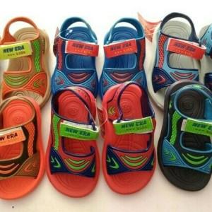 Sepatu Sandal Anak Laki Laki Tayo Trains Car Villago Tokopedia