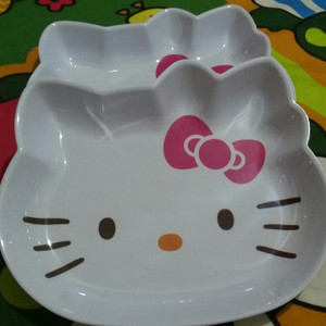 Jual Piring Melamin Kepala Hello Kitty Jumbo