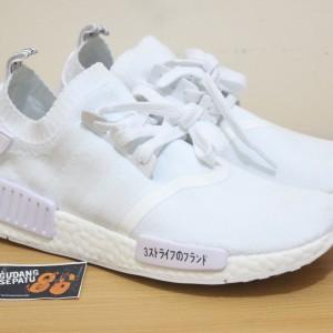 55ceded99c76b Jual Sepatu Adidas NMD R1 Primeknit Japan Triple White - Premium Quality