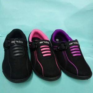 Sepatu Anak Perempuan Hitam Pink Original By Santica Michiko Sepatu Kets Tokopedia