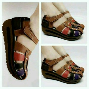 Sepatu Wanita Kickers Wedges Tokopedia