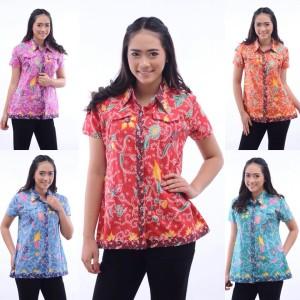 Baju Batik Atasan Blus Wanita Tokopedia